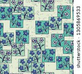 seamless pattern made up of...   Shutterstock .eps vector #1305869533