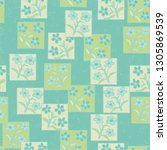 seamless pattern made up of...   Shutterstock .eps vector #1305869539