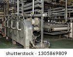 industrial production of potato ... | Shutterstock . vector #1305869809