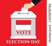 election day in indonesia with... | Shutterstock .eps vector #1305898786