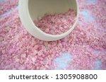 beautiful pink sea salt for...   Shutterstock . vector #1305908800