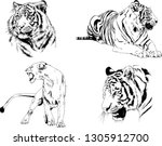 set of vector drawings on the...   Shutterstock .eps vector #1305912700