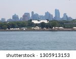 governors island from hudson... | Shutterstock . vector #1305913153