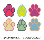 paw of an animal  canine...   Shutterstock .eps vector #1305920230
