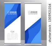 roll up business brochure flyer ... | Shutterstock .eps vector #1305921316