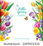 template for cards from... | Shutterstock .eps vector #1305921523