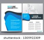 abstract vector modern flyers... | Shutterstock .eps vector #1305922309