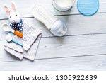 preparation of mixture baby...   Shutterstock . vector #1305922639