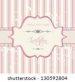 romantic invitation   pink | Shutterstock .eps vector #130592804