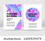 the abstract bright holographic ... | Shutterstock .eps vector #1305929479