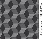 gray geometric pattern abstract ... | Shutterstock .eps vector #1305931936