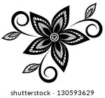 Stock vector beautiful black and white floral pattern design element many similarities to the author s profile 130593629