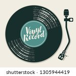 vector poster or cover with... | Shutterstock .eps vector #1305944419