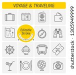 the traveling and voyage... | Shutterstock .eps vector #1305949999
