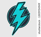 thunder cartoon color...   Shutterstock .eps vector #1305954949