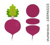 food   vegetable   flat vector... | Shutterstock .eps vector #1305963223