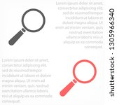 loupe   vector icon | Shutterstock .eps vector #1305966340