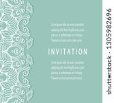 invitation or card template... | Shutterstock .eps vector #1305982696
