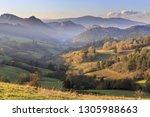 pieniny mountains at evening...   Shutterstock . vector #1305988663