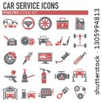 car service icons set on white...   Shutterstock .eps vector #1305994813