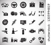car service icons set on white...   Shutterstock .eps vector #1305994819