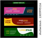 banner design template vector... | Shutterstock .eps vector #1305995116