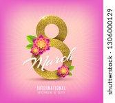 8 march international women's... | Shutterstock .eps vector #1306000129