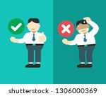 cartoon businessman expressing...   Shutterstock .eps vector #1306000369