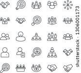 thin line icon set   handshake... | Shutterstock .eps vector #1306001173