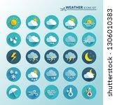 weather icons set. cartoon...   Shutterstock .eps vector #1306010383