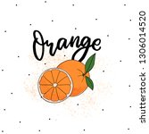 orange fruit illustration with... | Shutterstock .eps vector #1306014520