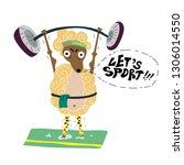 funny sports illustration.... | Shutterstock .eps vector #1306014550