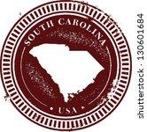 Vintage South Carolina USA Stamp - stock vector