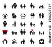 family pictogram icons... | Shutterstock .eps vector #1306025959