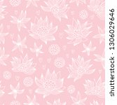 baby pattern with flowers and... | Shutterstock .eps vector #1306029646