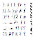 flat people big vector set .... | Shutterstock .eps vector #1306031083