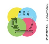 coffee cup or mug icon  coffee...   Shutterstock .eps vector #1306040533