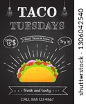 traditional mexican food taco... | Shutterstock .eps vector #1306042540