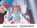 little baby in the swing.... | Shutterstock . vector #1306044049