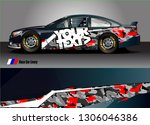 race car graphic background... | Shutterstock .eps vector #1306046386