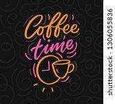 hand drawn lettering phrase... | Shutterstock .eps vector #1306055836