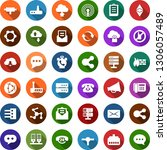 color back flat icon set  ... | Shutterstock .eps vector #1306057489