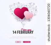 valentines day banner with... | Shutterstock .eps vector #1306060720