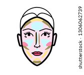 women face strobing scheme... | Shutterstock .eps vector #1306062739