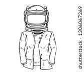 stylish astronaut with hand...   Shutterstock .eps vector #1306067269