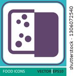 cheese  dairy produce. vector... | Shutterstock .eps vector #1306072540