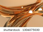 luxury golden satin silk fabric ... | Shutterstock . vector #1306075030