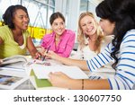 group of men meeting in... | Shutterstock . vector #130607750