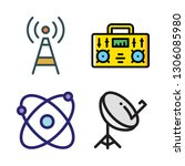 station icon set. vector set... | Shutterstock .eps vector #1306085980