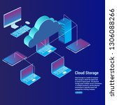 cloud storage concept data... | Shutterstock .eps vector #1306088266